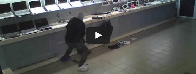 Слуцкий грабитель обронил личные документы на месте преступления (Видео)