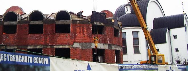 Возобновлено строительство Христорождественского собора (Фото)