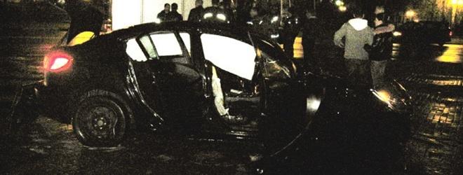 В ДТП в центре города сгорел автомобиль (Фото + Видео)